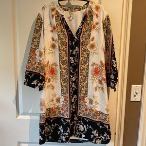 Anthropologie fig and flower dress size m